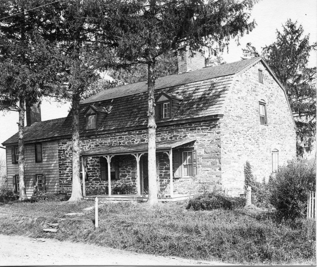 Early photo of the Henry Landis House, included in this year's Holiday House Tour.